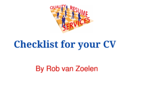 Checklist for your cv image